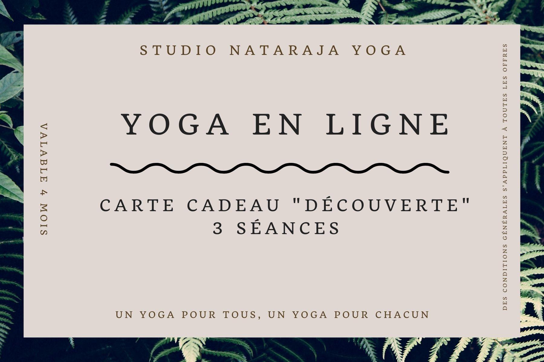 Nos cartes cadeaux Yoga