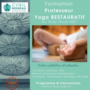 Formation Professeur yoga RESTAURATIF