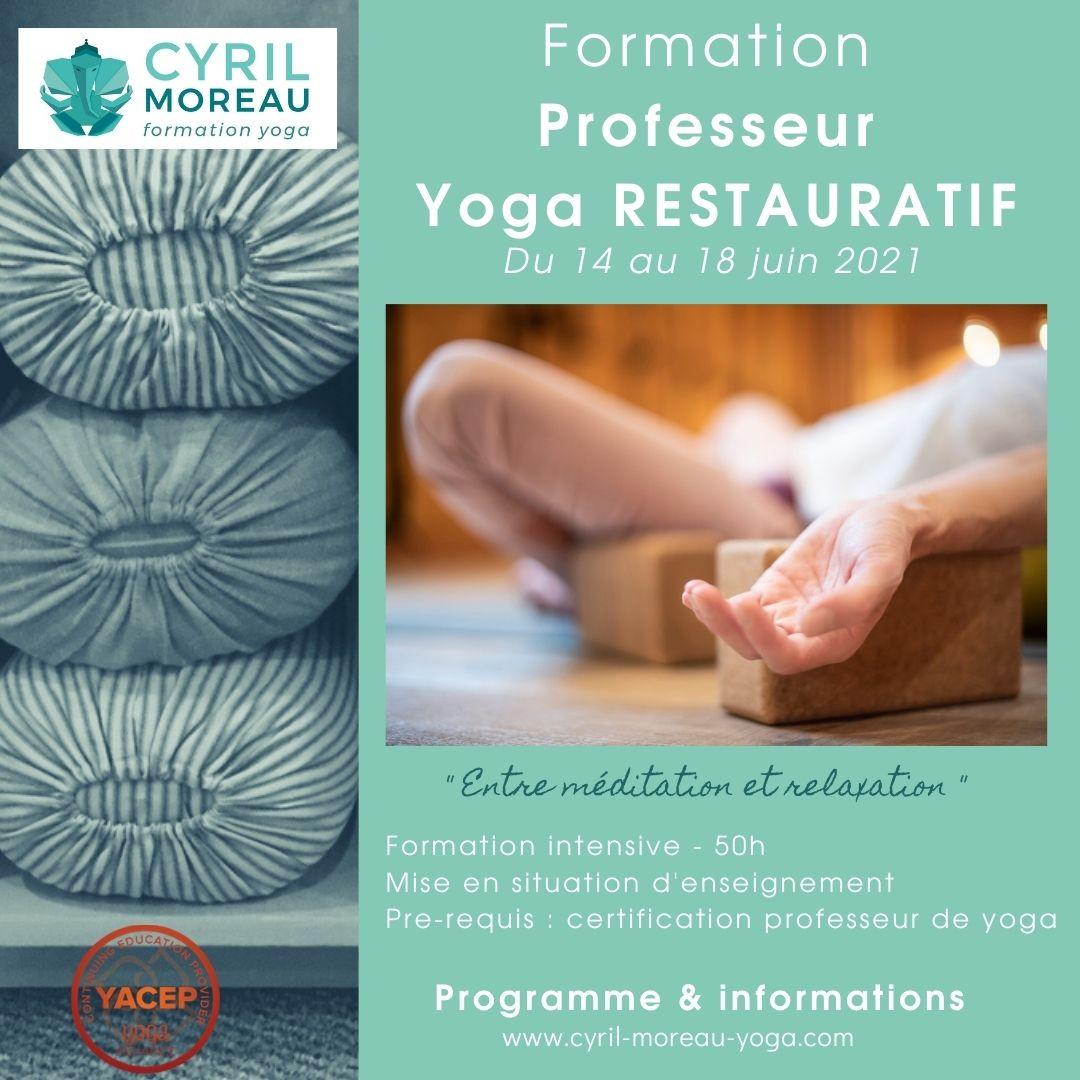 Formation Professeur yoga RESTAURATIF